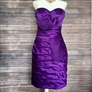 💯 Auth New Terani Couture Purple Dress 8